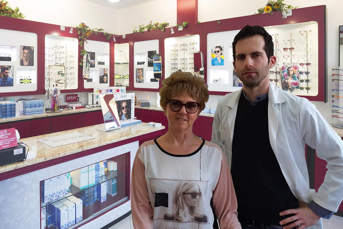 Ottica virano Orbassano None vision ottica team Silvio e Laura